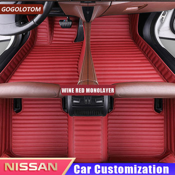 Leather Car Floor Mats for Nissan X-Trail Rogue XTrail 2014 2015 2016 2017 2018 Car-styling Mat Car Styling Auto Accessories