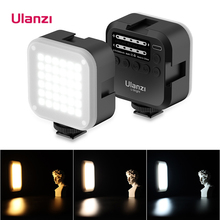 Ulanzi u ledビデオライト調光対応2700k 6500k 7.5ワット磁気ディフューザー6色rgb効果フィルターvlog補助光