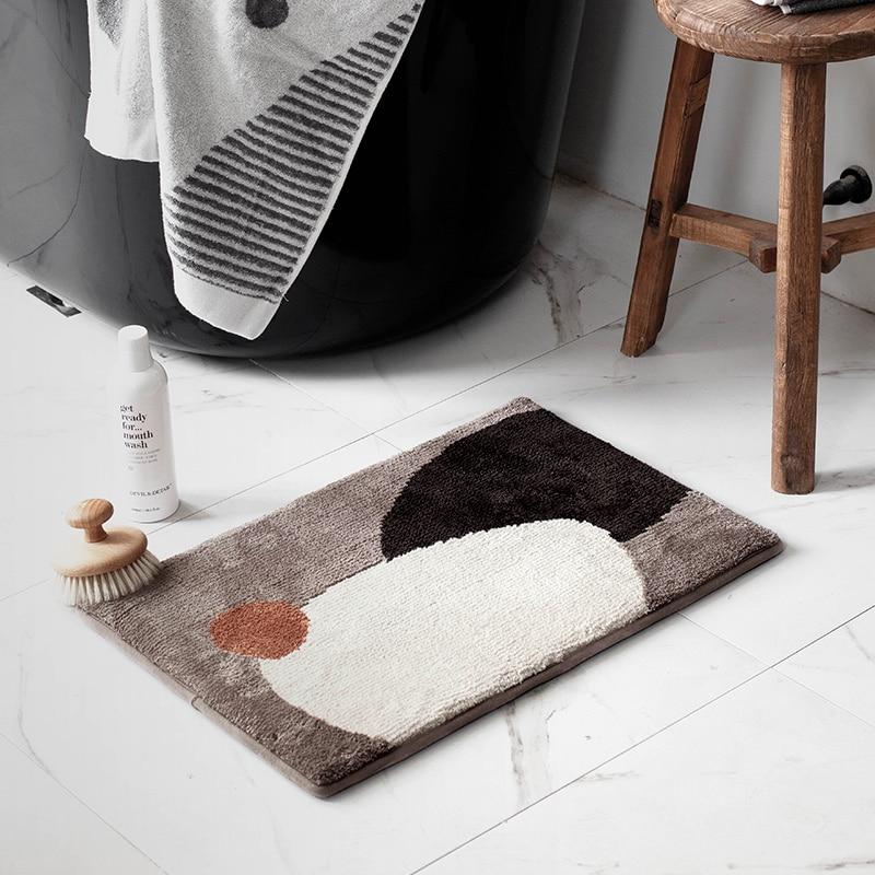 Chic Bathroom Rug Morandi Colors Entrance Carpet Area Rugs Kitchen Rug Floor Mats Nordic Welcome Doormat Home Room Decor 40x60cm