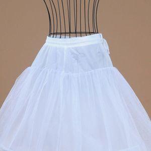 Image 5 - 2 Hoops 1 layer Yarn Skirt Bride Bridal Wedding Dress Support Petticoat Women Costume Skirts Lining Liner E15E