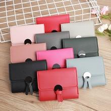 Best selling Korean women short wallet fashion ultra-thin mini coin purse simple wild cute small wallet card holder