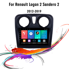 """Eastereggs 2 din 9 """"jogador dos multimédios do carro para renault dacia sandero android 2012 2017 unidade principal da navegação de gps de wifi fm estéreo"""