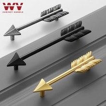 WV Messing Schrank Griff Kreative Gold Tür Knöpfe und Zieht für Schrank Küche Schrank Schrank Möbel Schublade Zieht Wohnkultur