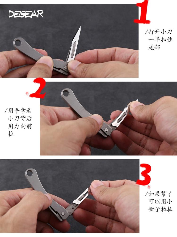 Mini liga de titânio utilitário faca dobrável