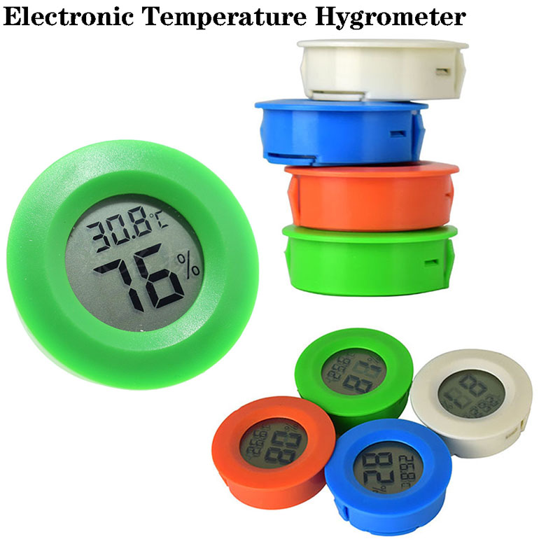 2019 New Digital High-precision Round Electronic Acrylic Thermometer And Hygrometer Household Items Temperature Humidity Meters