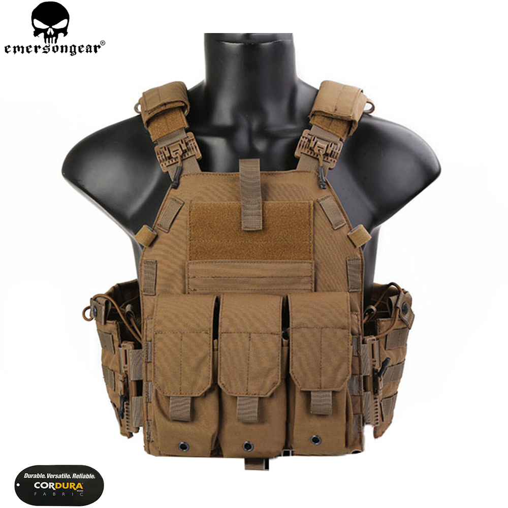 EMERSONGEAR Tactical Quick Release 094K Style Plate Carrier Combat Hunting Vest Airsoft CS Armor Sport Vest EMB7405