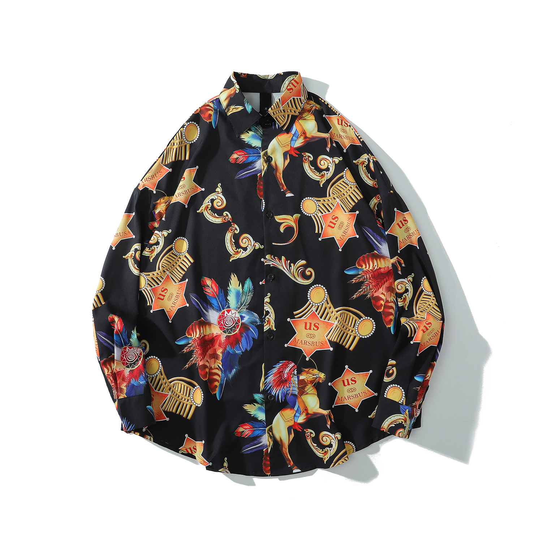 Retro Vintage Hawaiian Oversized Shirt
