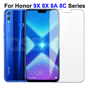 9H Protective Glass on the For Honor 9X 8X 8A 8C 8S 9i 10i 20i Tempered Screen Protector Honor 20 Lite 20S V20 V10 Glass Film(China)