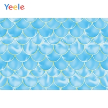 Yeele Vinyl Photophone Blue Mermaid Scale Baby Party Shower Photo Backgrounds Photo Backdrops Photophone For Photo Studio Props