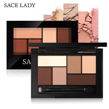 SACE LADY Matte Eyeshadow Palette MakeUp 8 Colors Glitter Eye Shadow With Brush Make Up Long Lasting Waterproof Natural Cosmetic цена 2017