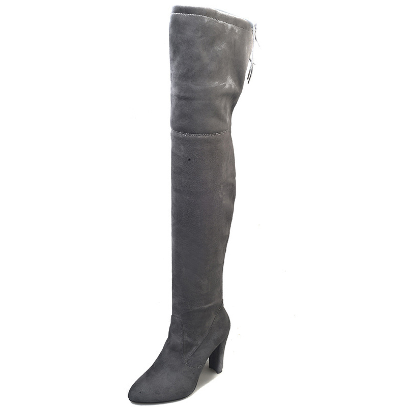 Image 5 - Women Boots Black Over the Knee High Winter Boots Sexy Female Autumn Lady Thigh Long High Boots Shoes 35-in Over-the-Knee Boots from Shoes