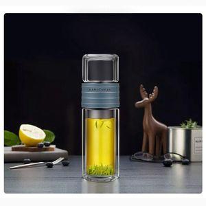 Image 2 - Kamjoveフィルター水カップ茶水分離旅行カップポータブル学生フィルターガラスティーカップ