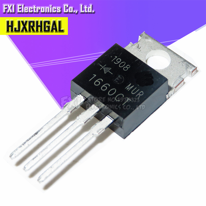 10pcs/lot MUR1660CT TO-220 U1660G Dual Diode Fast Recovery Original Authentic