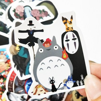 10/30/50pcs Waterproof Cartoon Totoro Spirited Away Girl Stickers Skateboard Suitcase Guitar Children Graffiti Sticker Kids Toy image