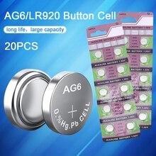20 шт. AG6 батарейки для часов 371A 3X69 LR920W литиевая батарея для монет для игрушек калькулятор лазерная указка