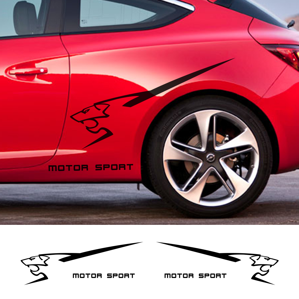 2pcs For Peugeot 107 108 2008 308 5008 206 207 RCZ MOTORSPORT Fender Sticker Car Styling Door Side Tuning Decal Auto Accessories