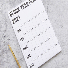 Wall-Calendar Daily Plan English-Year-Planner Office School Home Mark-Stickers with