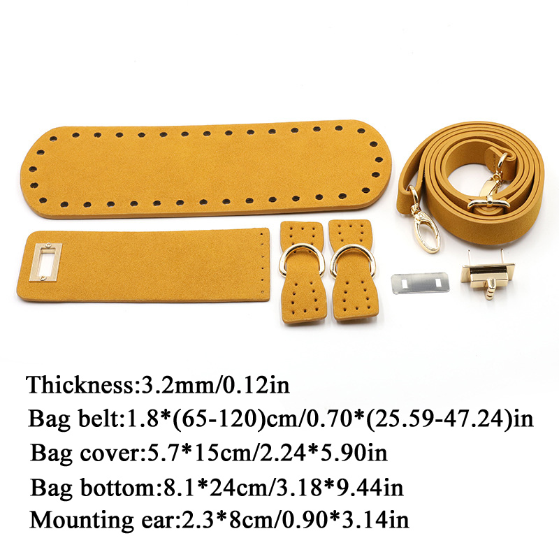 2020 DIY New Shoulder Strap Leather Bag Bottoms Cover With Hardware AccessoriesSolid Color Woven Accessory Set Handbag Set