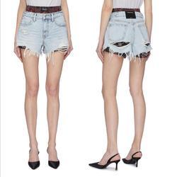 Женские джинсовые шорты AAW025, рваные потертые шорты с потертостями, весна-лето 2020