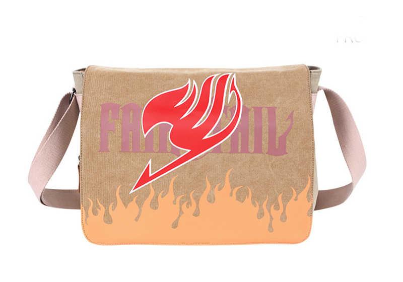 Cute FAIRY TAIL Cartoon Anime Satchel Canvas Bookbag Crossbody Messenger Bag Shoulder Unisex School Bag Women Men Laptop Bags