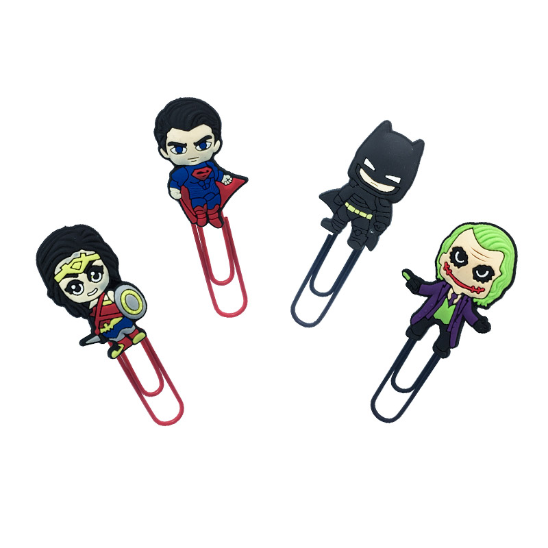 1Pcs BATMAN VS SUPERMAN Bookmark Metal Clips Page Holder For Teacher Students Paper Clip School Supplies Decoration For Gifts