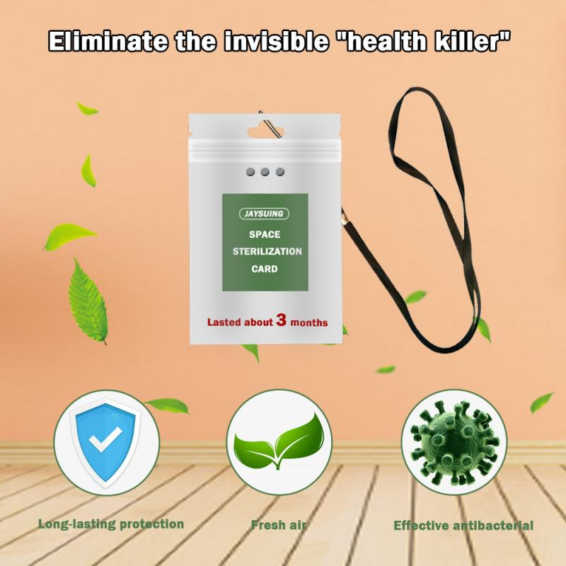Portable Air Freshener Sterilization Card Disinfection Lanyard Protection Card Anti Antibacterial Home Clean Outdoor Anti Tools