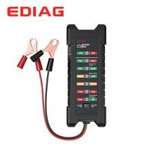 EDIAG Batterie Tester BM410 12 ~ 24V Kupfer Clip Version Auto Digitale 6 LED Licht Lichtmaschine Auto Batterie Analyzer