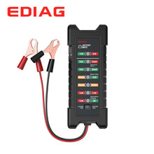 EDIAG Battery Tester BM410 12~24V Copper Clip Version Car Digital 6 LED Light Alternator Auto Battery Analyzer
