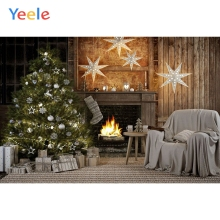 Yeele Christmas Backdrop Sofa Tree Fireplace Fire Newborn Baby Birthday Party Photocall Photography Background Photo Studio