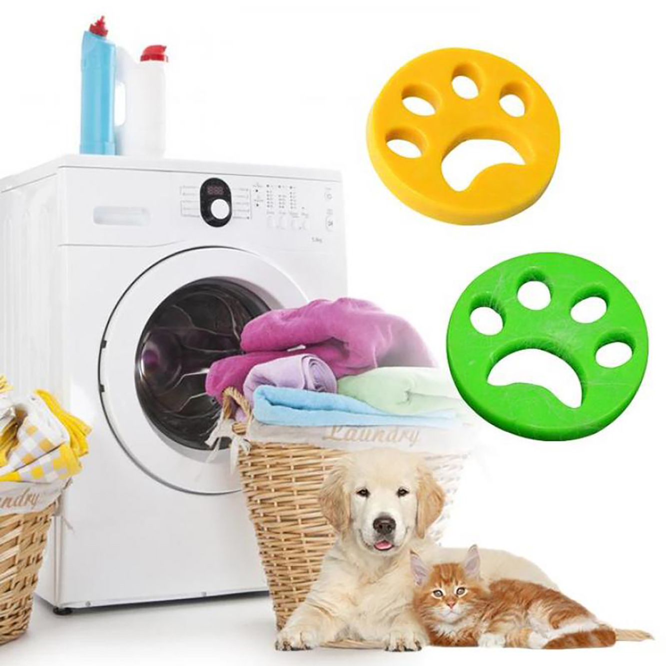2/4PCS Reusable Laundry Pet Hair Remover 1