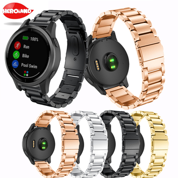 New Fashion style Universal Steel Smart Bracelet For Garmin vivoactive 4 for Samsung Gear S3 new sport High Quality Straps