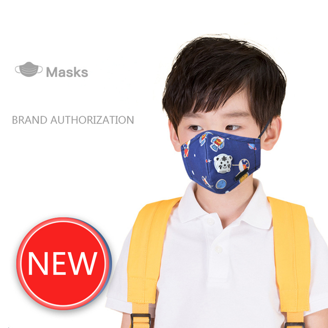 Kids Children Cotton Anti-Dust Face Mouth Mask Cartoon PM2.5 Protective Respirator Reusable Anti Flu Masks With 1pcs Filter 3