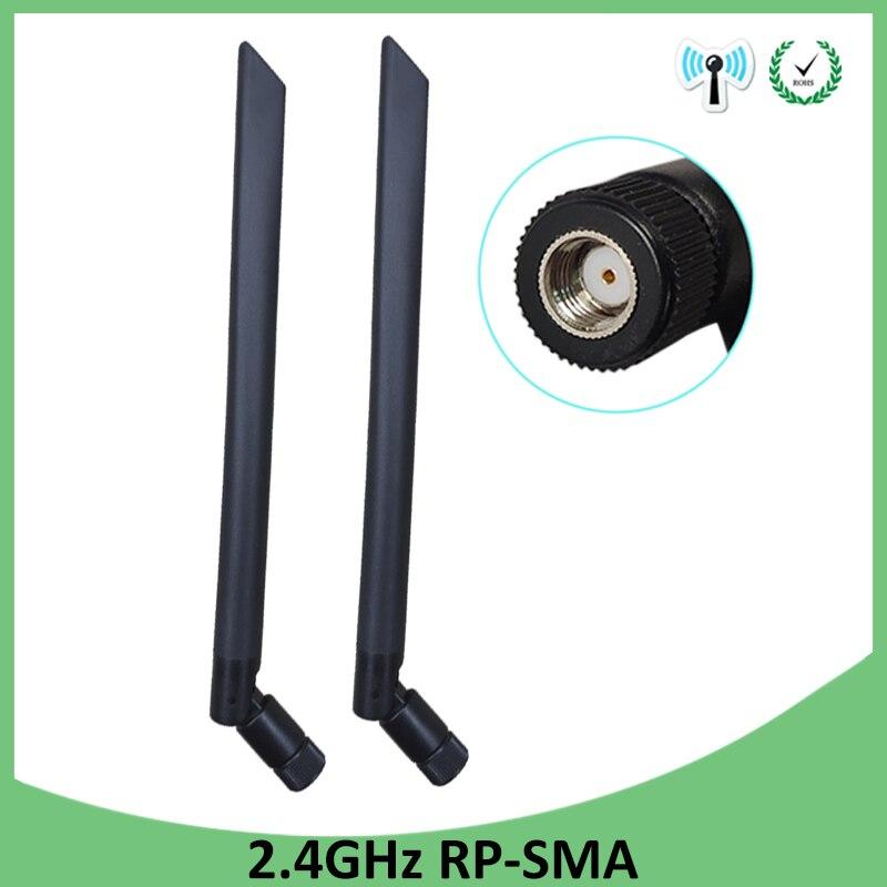 2pcs 2.4GHz Wifi Antenn 5dBi Aerial RP-SMA Connector Antena 2.4G Antenne Wi Fi Antenas Wi-fi Antennas Wireless Router Booster