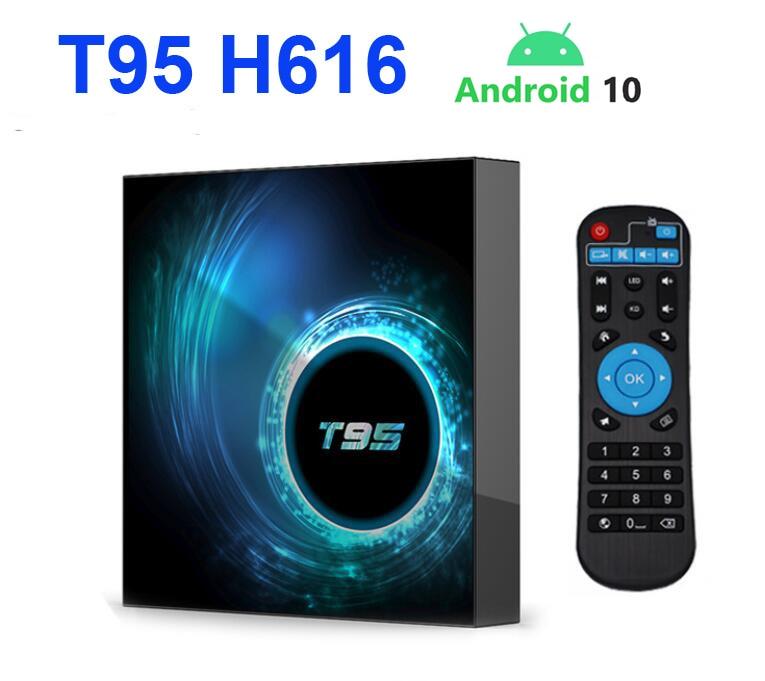 T95 H616 Android 10 TV Box Allwinner Quad Core WIFI IPTV Box 4GB 32GB OTT SetTopBox 6k Youtube Netflix Google Smart Media Player
