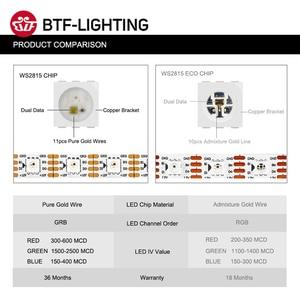 Image 4 - WS2815 DC12V WS2812B WS2813 RGB LED Strip Light Individually Addressable LED Lights Dual Signal 1m 5m 30 60 144 LEDs IP30 65 67