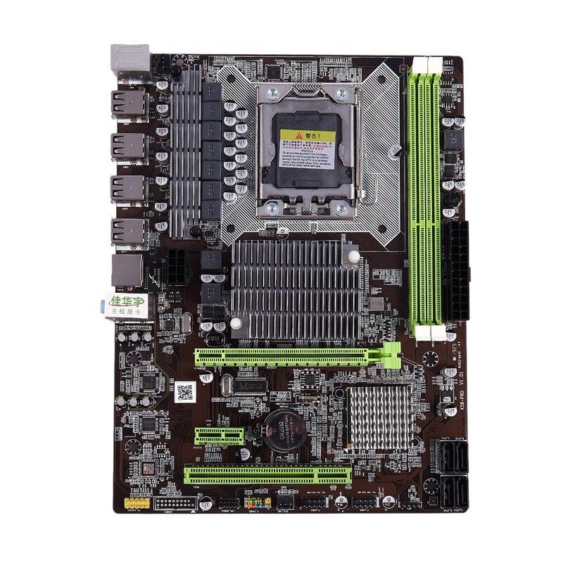 HOT-JIAHUAYU X58 Pro PC de escritorio de Juegos de ordenador placa base zócalo LGA 1366 USB2.0 DDR3 DIMM para E5502 L5506 W3503 Ec3539 Lc3528 INTEL XONE L5640 CPU INTEL L5640 procesador seis core 2,26 MHZ LeveL2 12M para lga 1366 montherboard