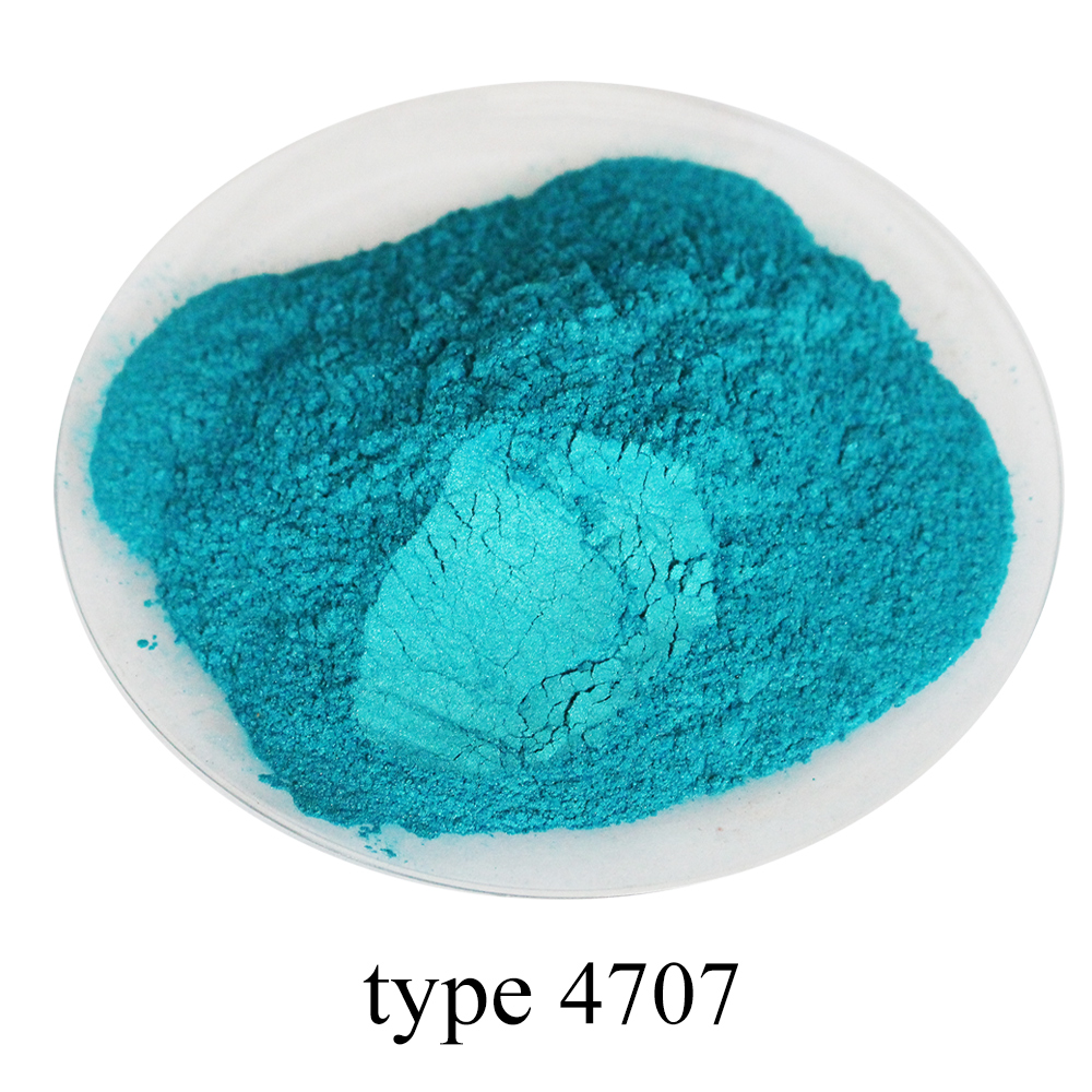50g 4707 Blue Green Pearl Powder Acrylic Paint Pigment For Crafts Arts Automotive Paint Soap Dye Colorant Mica Powder Pigment