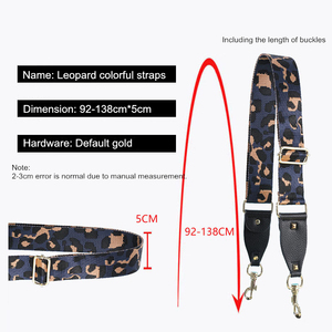 Image 5 - 조정 가능한 가방 어깨 끈 PU 넓은 어깨 가방 스트랩 교체 스트랩 가방 벨트 표범 인쇄 스트랩 가방에 대 한 correa bolso