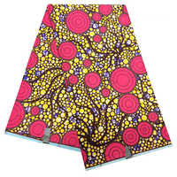 African Fabric for Party Dress new holland 6yardslot Colorful Dot Prints Fabric Ankara New Wax cloth african fabric