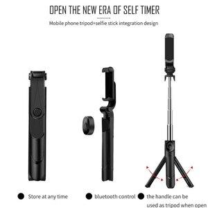 Image 4 - Gosear Portable extensible pliable Bluetooth tenu dans la main Selfie support pour téléphone bâton trépied support monopode pour Android IOS accessoire