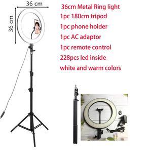 Image 1 - 26 32 34 45 53 センチメートルusb充電器selfieリングライトフラッシュledカメラ電話の写真撮影強化のためのスマートフォンスタジオvk
