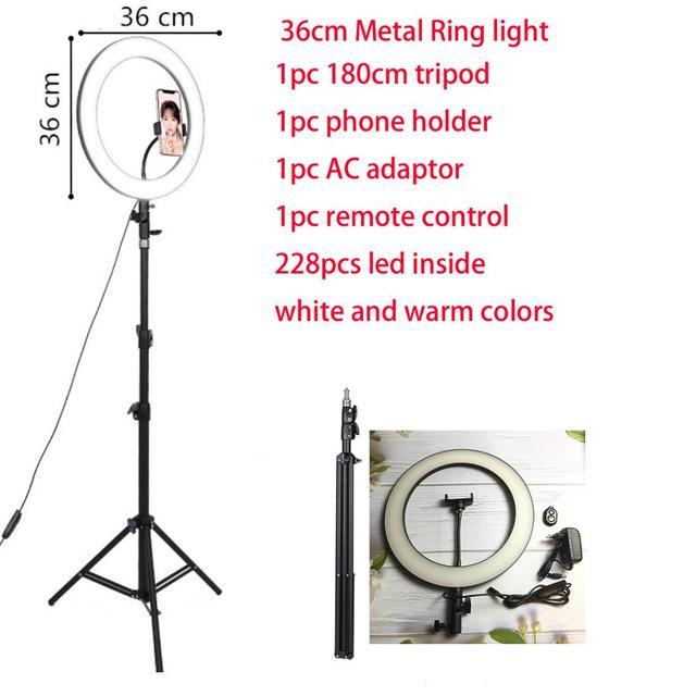 26 32 34 45 53 センチメートルusb充電器selfieリングライトフラッシュledカメラ電話の写真撮影強化のためのスマートフォンスタジオvk