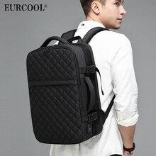 EURCOOL 2019 yeni seyahat sırt çantası erkekler genişletilebilir 12cm çok fonksiyonlu çantası dizüstü sırt çantaları erkek Mochila Fit 15.6 inç N1811 x