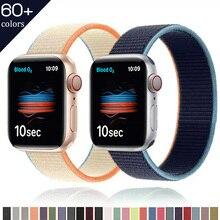 Нейлон ремешок для Apple часы ремешок 44 мм 40 мм 42 мм 38 мм умные часы браслет ремень спорт петля браслет iWatch серия 3 4 5 6 se ремешок
