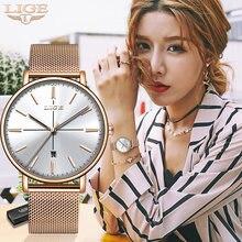 Оригинальные креативные часы lige женские водонепроницаемые