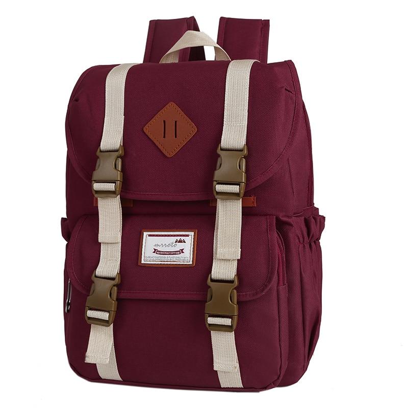 New Preppy Style School Backpack Women Shoulder Bag 11 Colors Schoolbag For Teenager Girls Travel Backpack Mochila High Quality