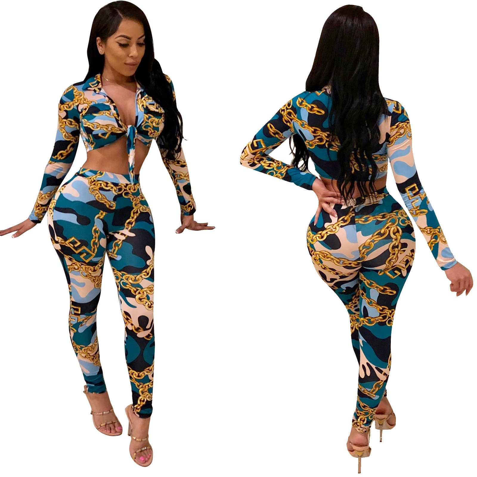 Currently Available 5540 A Generation Of Fat AliExpress EBay Dunhuang Amazon Hot Selling Europe And America-Printed Two-Piece Se