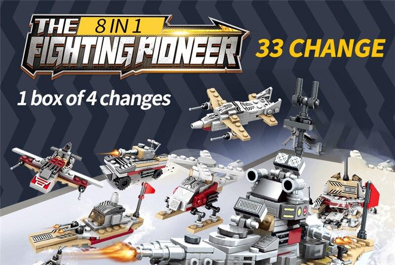 1000+ PCS Military Warship Navy Aircraft Army Figures Building Blocks LegoINGlys Army Warship Construction Bricks Children Toys (16)