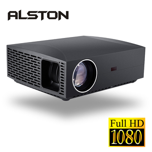 Image 2 - ALSTON F30 F30UP Full HD 1080P projektor 4K 6500 lumenów kino Proyector Beamer Android WiFi Bluetooth HDMI z prezentem