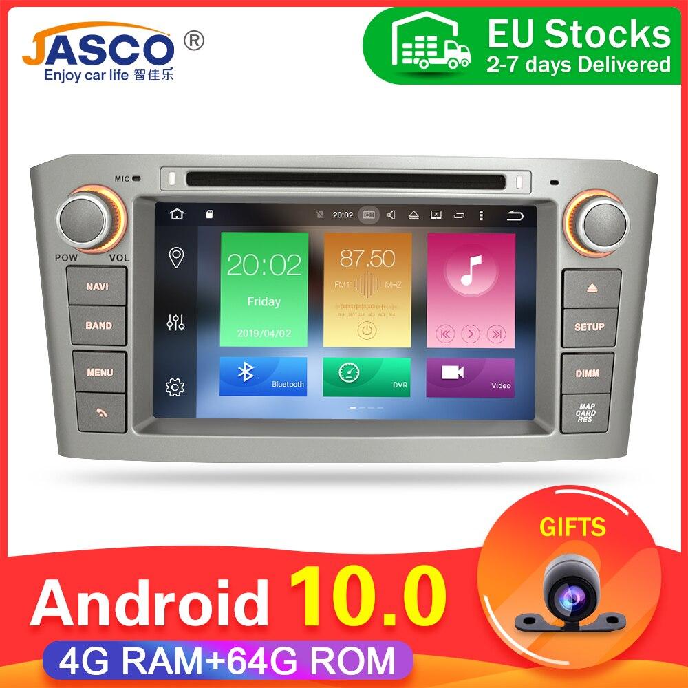 4g ram android 9.0 10.0car dvd estéreo multimídia unidade principal para toyota avensis/t25 2003-2008 auto rádio gps navegação vídeo áudio